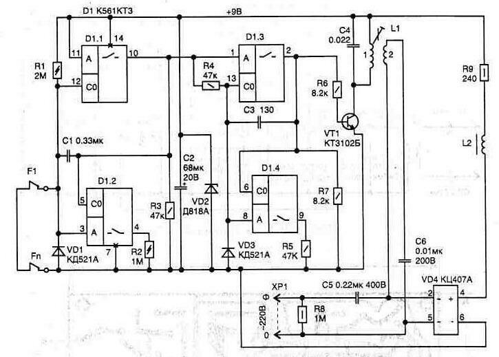 Схема диодного детектора